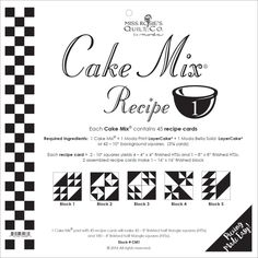What to do with that basket of HSTs? Try one of the Cake Mix recipes from Moda .