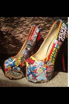 Cartoon comic shoes