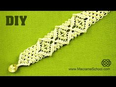 Square Knot Bracelet with Diamonds and Beads [DIY] - YouTube