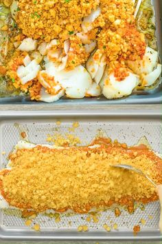 This Baked Cod recipe is truly the best you can find! Perfectly-seasoned cod, covered with a layer of special sauce and topped with crispy breadcrumbs. Salmon Recipes, Seafood Recipes, Dinner Recipes, Cooking Recipes, Fish Sauce Recipes, Cod Fillet Recipes, Fish Dinner, Seafood Dinner, Baked Fish