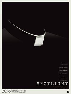 Spotlight ~ Minimal Movie Poster by Hunter Langston ~ Oscars 2016 Nominees Minimal Movie Posters, Minimal Poster, Cinema Posters, Film Posters, Poster Series, Movie Poster Art, Poster On, Movies Worth Watching, Alternative Movie Posters