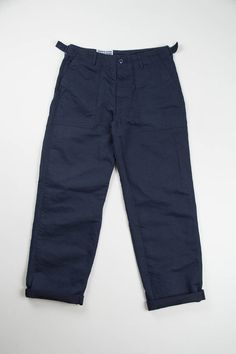 Navy Bedford Cord Washed Fatigue Pant   Engineered Garments Workaday