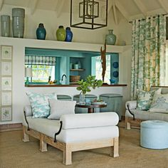 Coastal Home: Coastal House Tour: St. Barts Island Cottage. favourite colours.