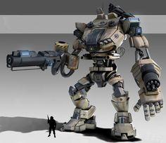 Mech Abrams by Ilyes Karakaya, via Behance