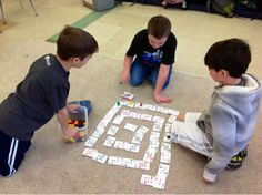 Ms. Schimel's Class: Spiral Multiplication Game. This could also be played with addition or subtraction rules.