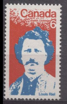 Canada #515 1970 6c Red And Bright Blue Louis Riel VF 84 NH DF
