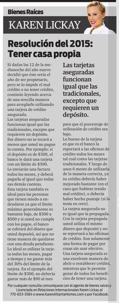 Amigos, los invito a leer mi columna en el distinguido periódico La Visión. Si este año decidió que ya es tiempo de tener casa propia, no deje de leer este interesante artículo. Disfruten!