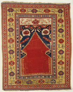 ALADAĞ (mountainous region in the north of the Adana province) prayer niche carpet.  128 x 150 cm.