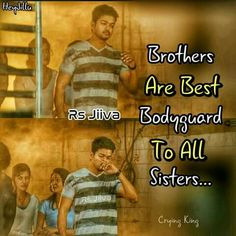 I'm very lucky to have brothers Bro And Sis Quotes, Brother N Sister Quotes, Brother And Sister Relationship, Sister Quotes Funny, Brother And Sister Love, Funny Quotes, Friendship Quotes From Movies, Hero Quotes, Favorite Movie Quotes