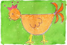 Textured Chicken Painting ~ Art Projects for Kids
