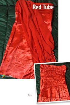 #Red Tube #Dress