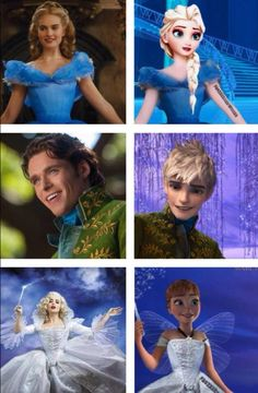 Cinderelsa Prince Jack and The fairysister. Btw the thing on Elsa's arm isn't a tattoo