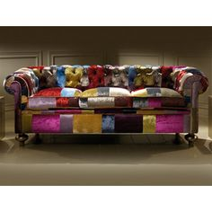 Juliettes Interiors offers a stunning range of furniture collections of high-end products that are highly unique and exclusive to us. Decor, Funky Furniture, Patchwork Furniture, Sofa Design, Sofa, Patchwork Upholstery, Funky Home Decor, Home Decor, Patchwork Sofa
