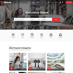 Oklahoma - ModelTheme Page Layout, Great Places, Wordpress Theme, Oklahoma, Modern Design, This Is Us, City, Layout, Wordpress Template