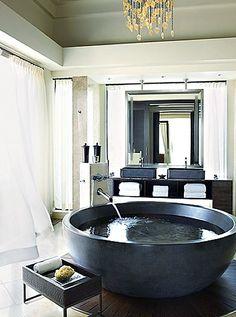 Have a bathtub like this... or just take a bath in this bathtub