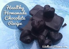 Healthy Homemade Chocolate-A simple and delicious homemade chocolate that is GAPS, paleo and primal approved (and definitely kid approved!) from WellnessMama.com #wellness #snacks #grainfree