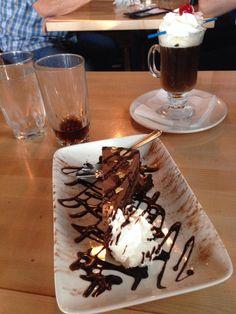Chianti's chocolate almond torte w/Spanish coffee yum yum!