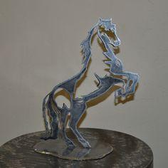 silhouette de cheval cabré en métal (réf ch 6)