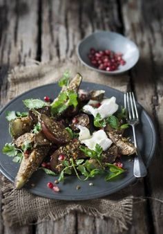 - Roasted Egyptian Dukkah Spiced Aubergines with Goats Feta, Mint and Pomegranate Seeds - If you're looking for a delicious vegetarian dish, we can definitely vouch for this!