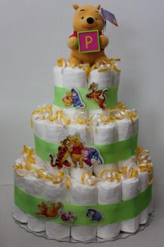Image detail for -make a winnie the pooh diaper cake for an upcoming baby shower diaper ...
