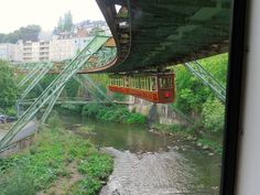 Get on the hanging train in Wuppertal in #Germany.  http://easyhiker.co.uk/hanging-trains-of-wuppertal/