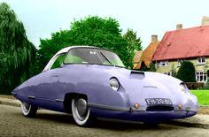 Panhard Lits Panthère 610cc 1955 Fait par le carrossier Lits Technische Industrie NV de Breda, Pays-Bas, dans la commission de Panhard en France. L'entraîneur a été construit sur un châssis Dyna X87. Le corps futuriste avec toit amovible a été faite de polyester. La voiture peut atteindre une vitesse de 140 km / ph grâce à l'aérodynamique et les matériaux légers. Seulement trois exemplaires de ce 2-places ont été construits. Après avoir été envoyé en France, rien n'a jamais été entendu sur…