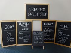 Chalkboard Signs - by www.calligraphybylisa.com