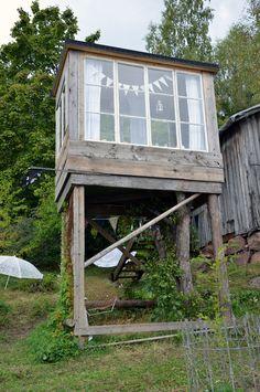 Kaakelitehtaalla Woodland House, Treehouse, Gazebo, House Ideas, Outdoor Structures, Summer, Kids, Young Children, Kiosk