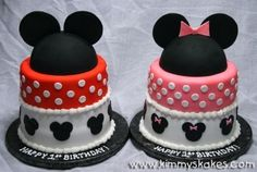 Love these cakes for twin boy & girl www.twinsgiftcompany.co.uk