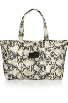 ShopStyle: Chlo�� Pink Python Clutch with Crystal Bow   Arm Candy ...