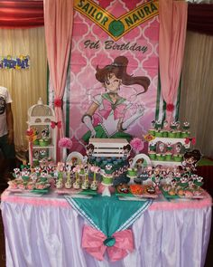 Crazy cool Sailor Jupiter themed birthday party