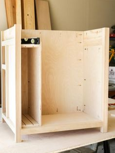 DIY Kitchen Island on Wheels: Build the Sheet Pan Storage Space