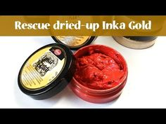 Rescue dried-up Inka Gold Paints Inka Gold, Card Making Supplies, Art Supplies, Gilding Wax, Card Tutorials, Mixed Media Canvas, Gold Paint, Baking Ingredients, Clear Stamps