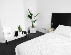 """Interior Designs Archives - Stylendesigns """"Does anyone else get anxious if they don't change their room/place around often or just me? I gave my room a mini makeover with a slightly different…"""" Minimal Bedroom, Modern Bedroom, White Bedrooms, Contemporary Bedroom, Minimalist Room, Minimalist Interior, Home Bedroom, Bedroom Furniture, Master Bedroom"""