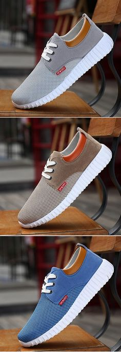 sports shoes 037d2 09394 US 15.25 Men Mesh Fabric Breathable Shock Absorption Sneakers Sport Running  Shoes
