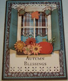 Bug Junkie: FALL WINDOW CARD