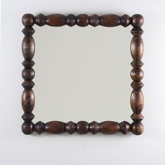 Buy our Turned Wood Mirror online. You love great design and we create beautiful products to inspire your vision. P. S. I love it! every time you work with us. Multiple finishes. Free delivery! Akron Street, Solar Kiln, Warm Industrial, Wood Mirror, Organic Modern, Walnut Finish, Wood Turning, Studio, Furniture Decor