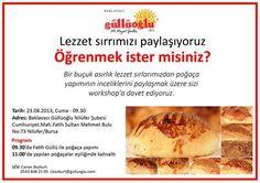 Sevgili blog yazarı arkadaşlarım ve canım izleyenlerim. Güllüoğlu Baklavanın  23.Ağustos cuma günü poğaça yapımı workshop'u çok güzel ve...