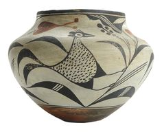 Brunk Auctions - Acoma Polychromed Pottery <em>Olla</em>