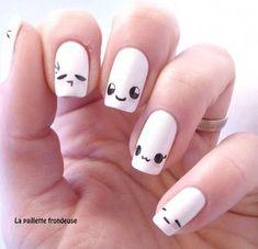 Kawaii nail art is a very famous and cute looking in Japanese series. Kawaii nail art is a very famous and cute looking in Japanese series. Here are the top 9 Kawaii nail art designs that you can try out. Nail Art Kawaii, Cute Nail Art, Beautiful Nail Art, Easy Nail Art, Love Nails, Pretty Nails, Gel Nails, Acrylic Nails, Emoji Nails