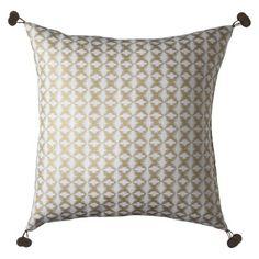 "{Living Room} Nate Berkus Star Ikat Pillow 16x16"" - Gold"