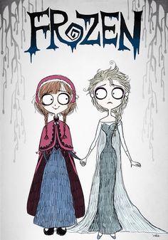 Frozen al estilo Tim Burton                                                                                                                                                     Más