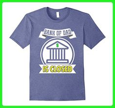 Mens Funny Bank Of Dad Is Closed T-shirt Fathers Day Birthday  Small Heather Blue - Birthday shirts (*Amazon Partner-Link)