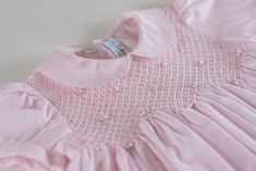 Shop Now Feltman Brothers Scalloped Pearl Smocked Dress Smocking Baby, Smocking Patterns, Sewing Patterns, Sewing Tutorials, Little Girl Dresses, Girls Dresses, Smocked Baby Dresses, Vintage Baby Clothes, Baby Clothes Patterns