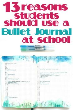 Should you use a bullet journal for school? Bullet journals help with time management, creativity, and organizing. Bullet journal inspiration for students. Bullet Journal For Kids, Bullet Journal School, Bullet Journal Hacks, Bullet Journal How To Start A, Bullet Journal Spread, Bullet Journal Layout, Bullet Journal Inspiration, Journal Ideas, Bullet Journals