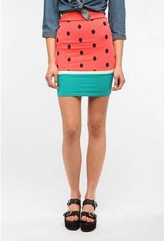 Fruit-Formed Skirts - The Reverse Watermelon Skirt is a Mouthwatering Must-Have (GALLERY)