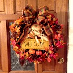 Thanksgiving wreath idea