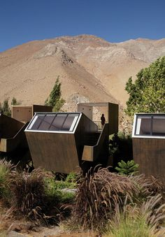 Gallery of Elqui Domos Astronomical Hotel / Rodrigo Duque Motta | 1:200 | Residentail Building | Hotel | Mountain | Hillside | Sloping Terrain | Isolated Blocks | All Wood Material |