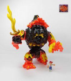 Mighty Max - Melts Lava Beast - Battle Warriors - Bluebird Toys 1994 7