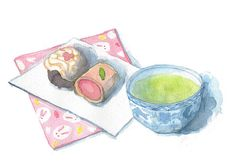 Wagashi Japanese Cake by kana_hata, via Flickr